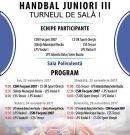 HANDBAL, J3 (m) | Turneul 1, la Focșani