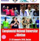 ATLETISM | Campionatul Național Universitar de sală 2018